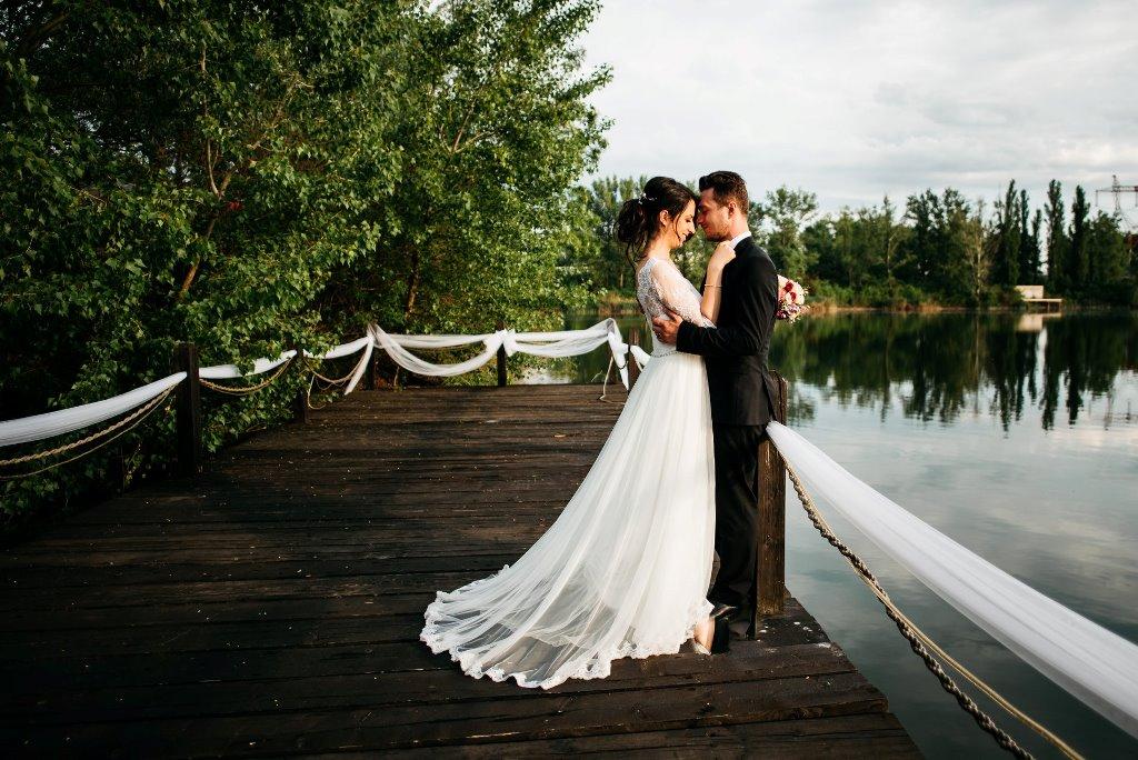 sedinta foto de nunta pe malul lacului Clinceni