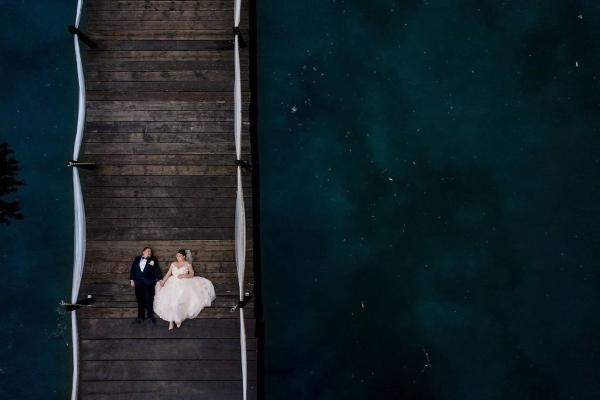sedinta foto nunta pe ponton